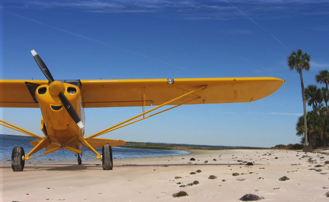 piper cub on beach airplane appraisal